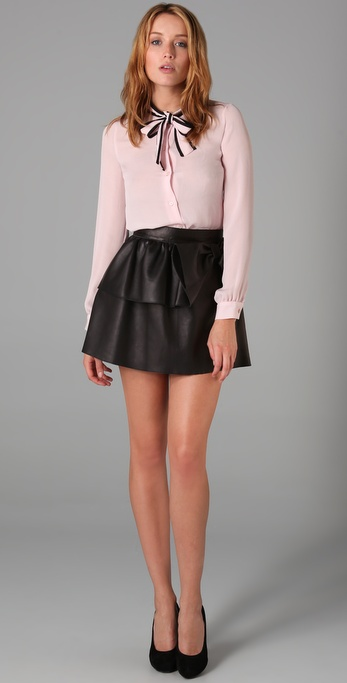 Very Short Leather Mini Skirt