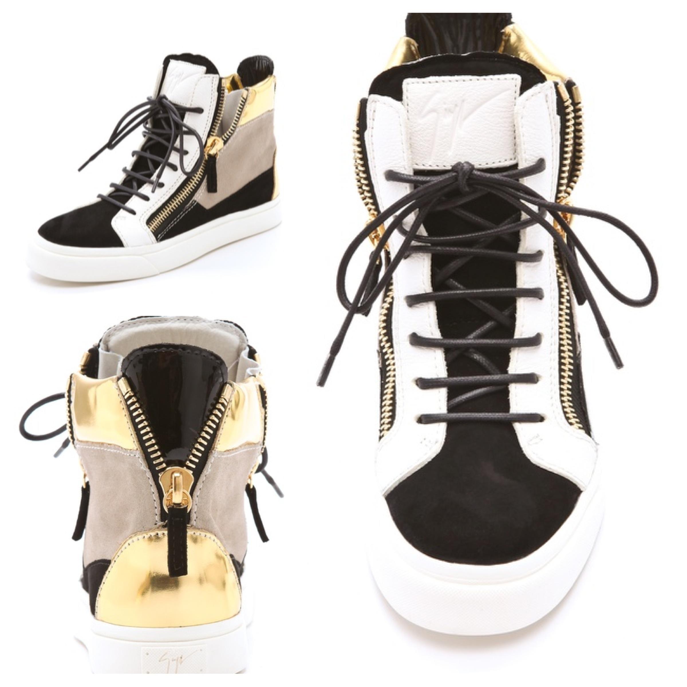 France Giuseppe Zanotti Sneakers - 2012 08 26 Giuseppe Zanotti Double Zip Laceup Sneakers