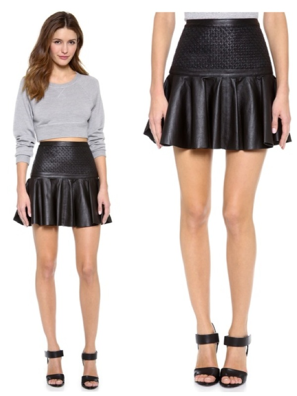 Leather Frill Skirt - Dress Ala
